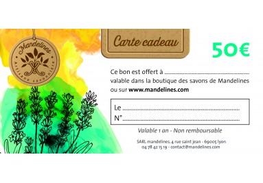 Carte cadeau Mandelines à offrir pour Noël